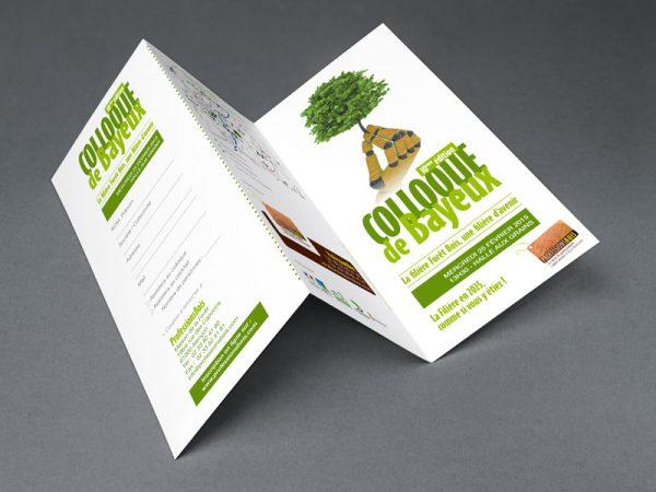 Conception de plaquettes et brochures pour Professions Bois