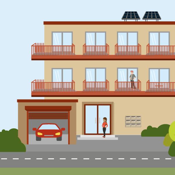 Création d'illustration vectorielle et mise en page de brochure pour Calvados Habitat
