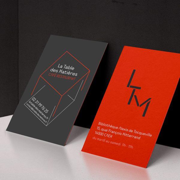 Mise en place du logo, création du site internet et d'un flyer pour la Table des Matières