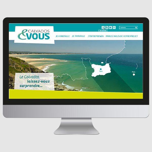 Ergonomie, webdesign et conseil pour le site internet Calvados & Vous initié par Calvados Stratégie