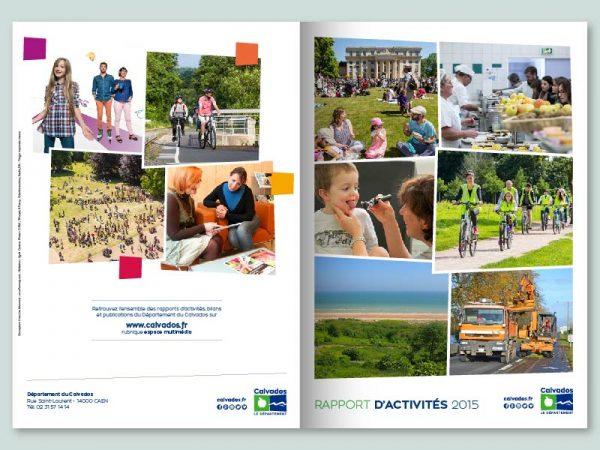 Conception du rapport d'activités du Département du Calvados