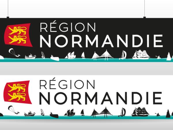 Conception de l'enseigne Région Normandie au salon nautique de Paris