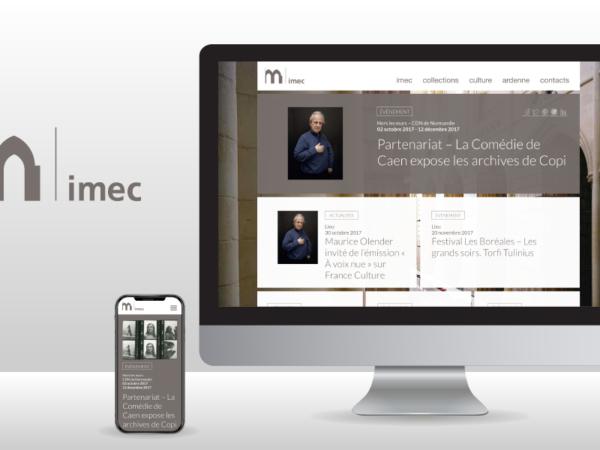 Webdesign de la homepage du site web de l'Imec