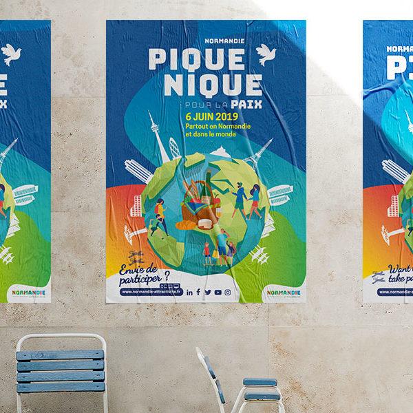 Création du visuel Pique-Nique pour la Paix 2019
